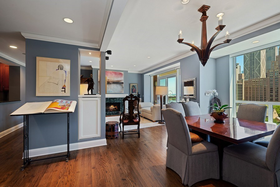 Real Estate Photography - 270 E Pearson, Apt 1102, Chicago, IL, 60611 - Living Room / Dining Room