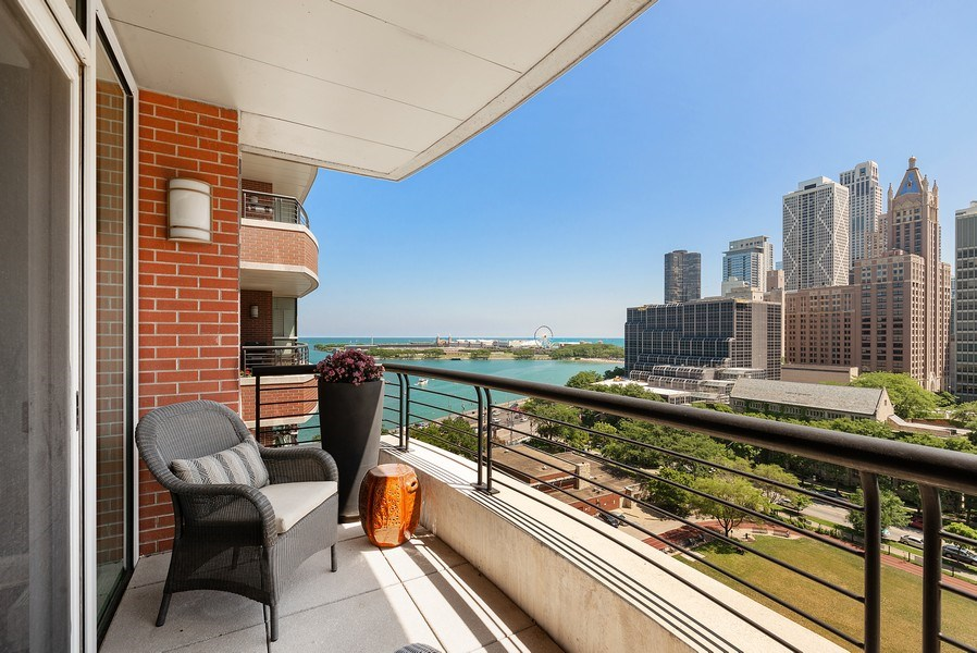 Real Estate Photography - 270 E Pearson, Apt 1102, Chicago, IL, 60611 - Balcony