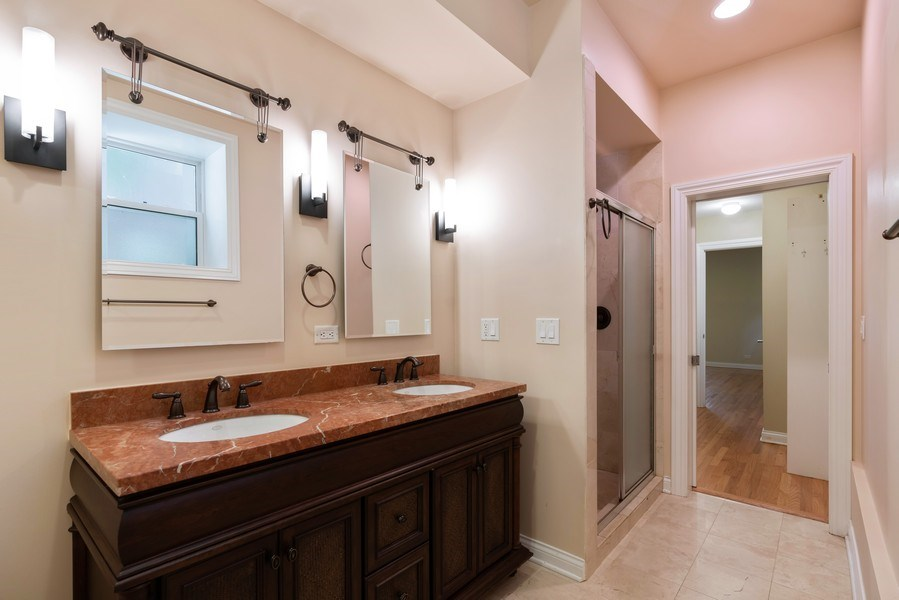 Real Estate Photography - 5482 S Woodlawn Ave, Chicago, IL, 60615 - Master Bathroom
