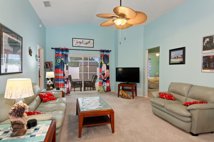 Real Estate Photography - 17409 Silver Creek Ct, Clermont, FL, 34747 - Living Room