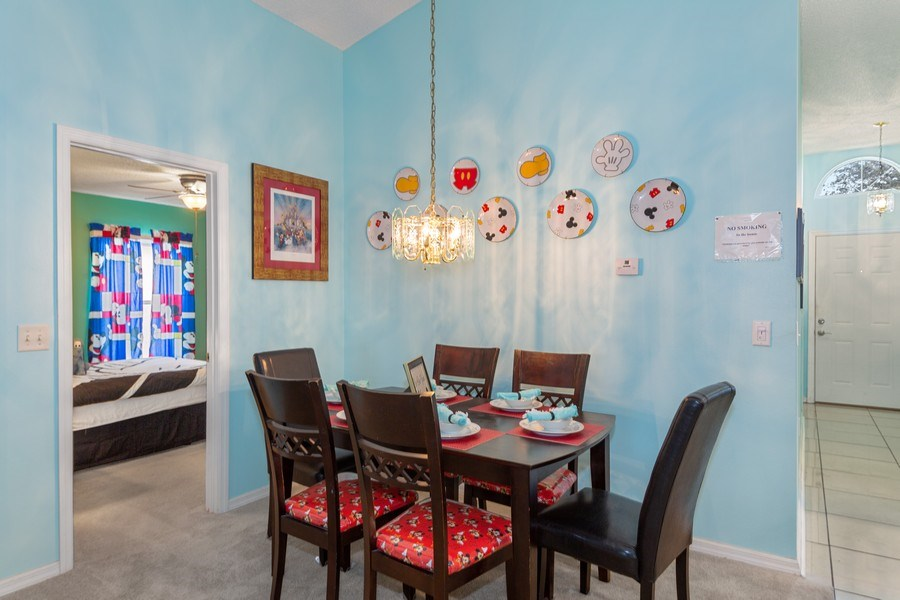 Real Estate Photography - 17409 Silver Creek Ct, Clermont, FL, 34747 - Dining Room