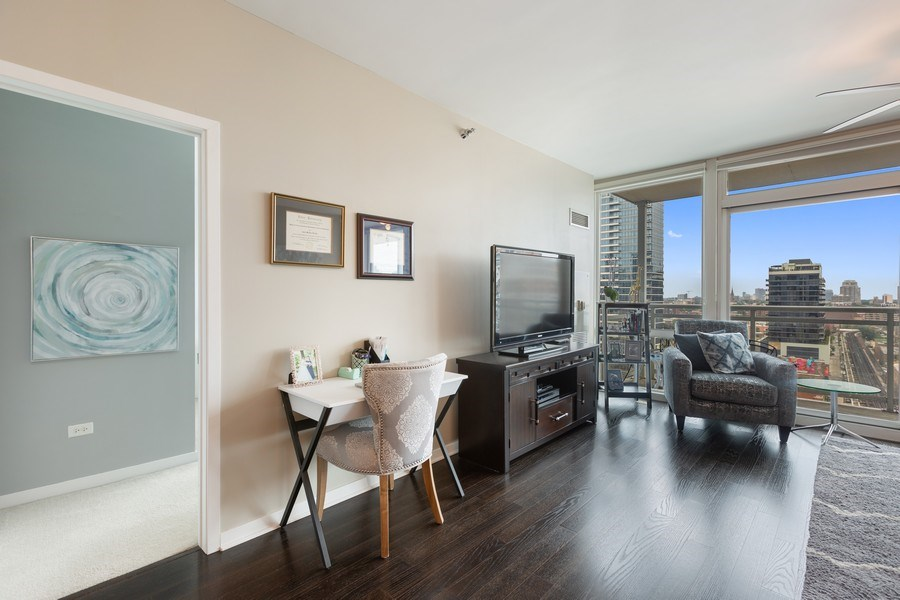Real Estate Photography - 757 N Orleans, Unit 1303, Chicago, IL, 60654 - Living Room