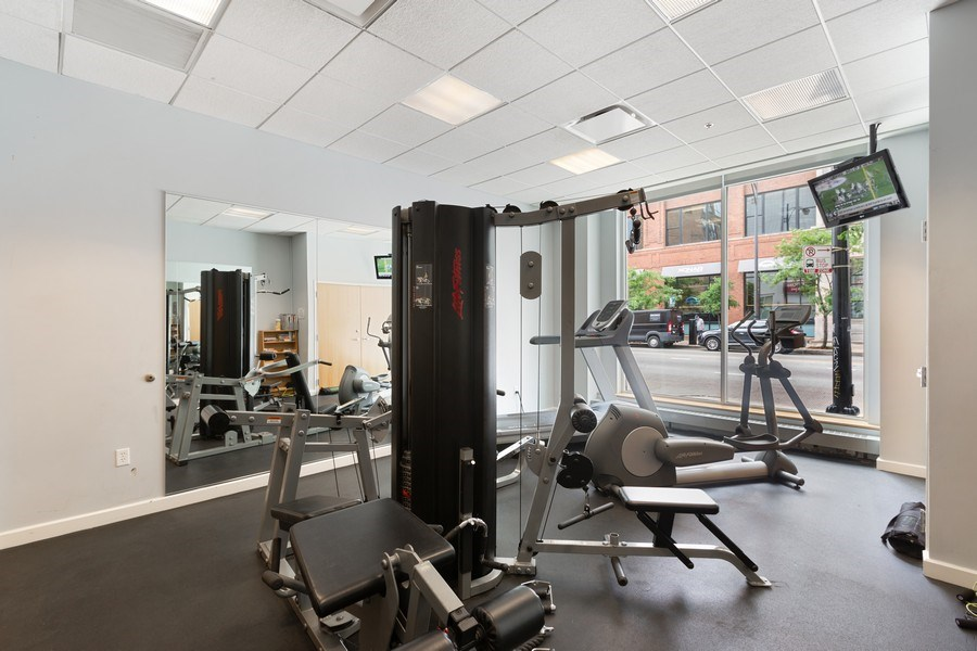 Real Estate Photography - 757 N Orleans, Unit 1303, Chicago, IL, 60654 - Gym