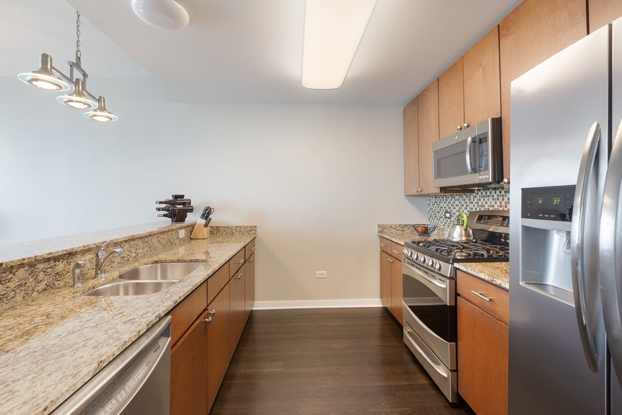 Real Estate Photography - 757 N Orleans, Unit 1303, Chicago, IL, 60654 - Kitchen