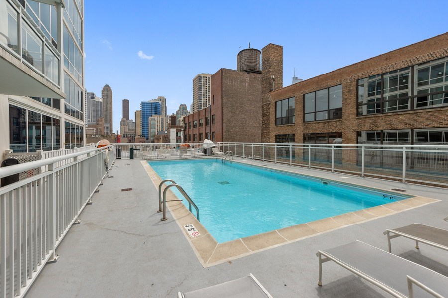 Real Estate Photography - 757 N Orleans, Unit 1303, Chicago, IL, 60654 - Pool