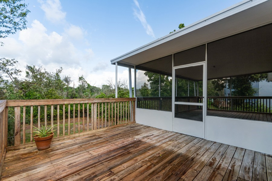 Real Estate Photography - 832 Parkwood Ave, Titusville, FL, 32796 - Sundeck
