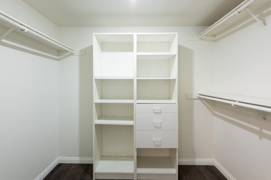 Real Estate Photography - 1940 N Highland Ave., Unit #15, Los Angeles, CA, 90068 - Master Bedroom Closet