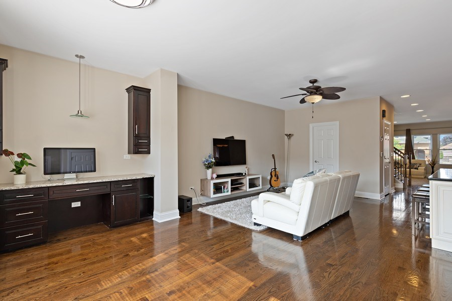 Real Estate Photography - 3538 Elmwood ave, Berwyn, IL, 60402 - Family Room