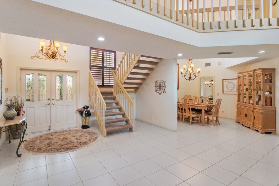 Real Estate Photography - 23102 Lermitage Circle, Boca Raton, FL, 33433 - Foyer/Dining Room