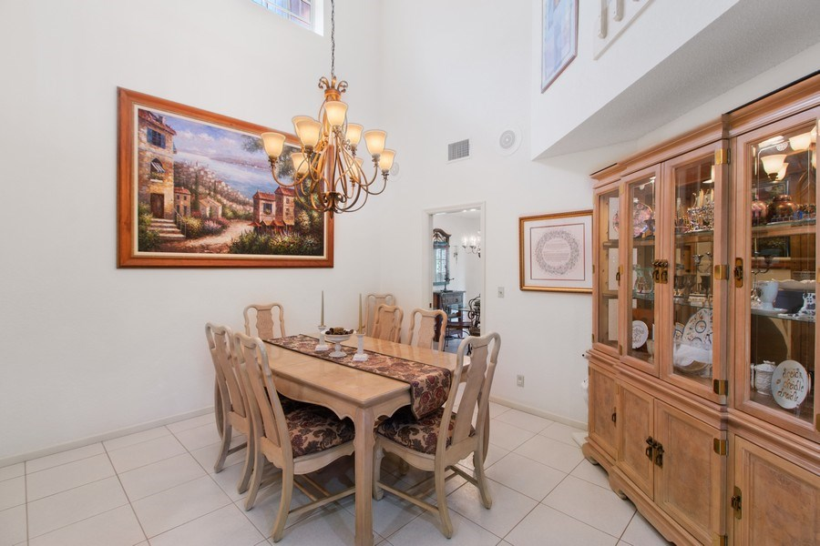Real Estate Photography - 23102 Lermitage Circle, Boca Raton, FL, 33433 - Dining Room
