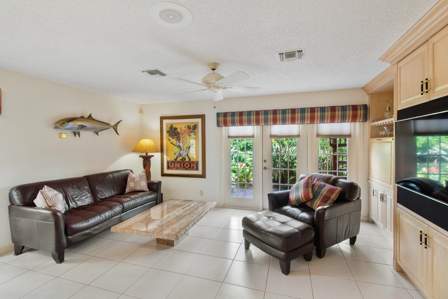 Real Estate Photography - 23102 Lermitage Circle, Boca Raton, FL, 33433 - Family Room