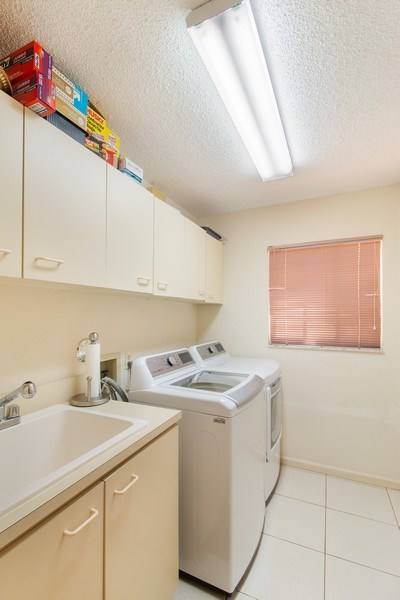 Real Estate Photography - 23102 Lermitage Circle, Boca Raton, FL, 33433 - Laundry Room