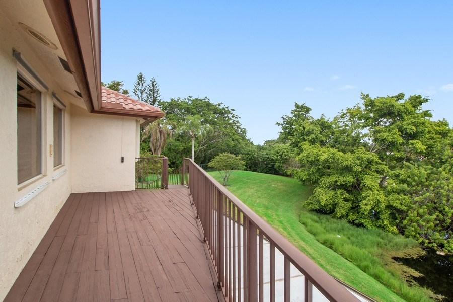 Real Estate Photography - 23102 Lermitage Circle, Boca Raton, FL, 33433 - Balcony