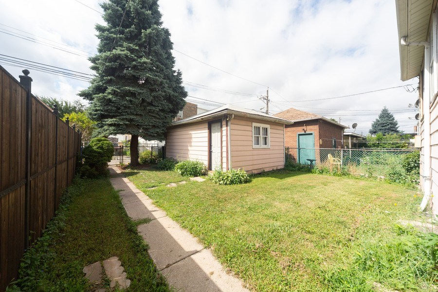 Real Estate Photography - 4031 W. Wellington Avenue, Chicago, IL, 60641 - Back Yard