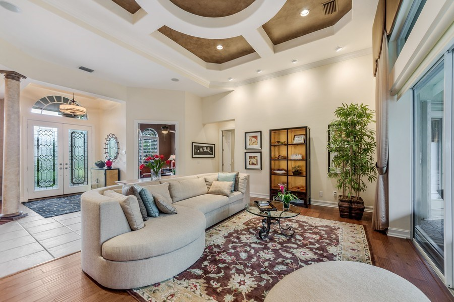 Real Estate Photography - 14560 Ocean Bluff Dr, Fort Myers, FL, 33908 - Living Room