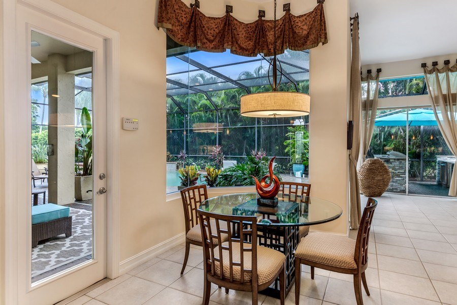 Real Estate Photography - 14560 Ocean Bluff Dr, Fort Myers, FL, 33908 - Breakfast Area