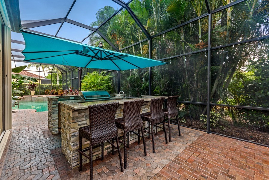 Real Estate Photography - 14560 Ocean Bluff Dr, Fort Myers, FL, 33908 - Bar