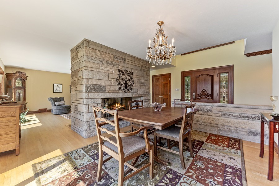 Real Estate Photography - 9 Woodridge, Oakbrook, IL, 60126 - Dining Room and Foyer