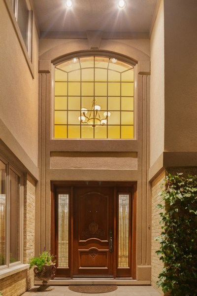 Real Estate Photography - 9 Woodridge, Oakbrook, IL, 60126 - Front Entry at Night