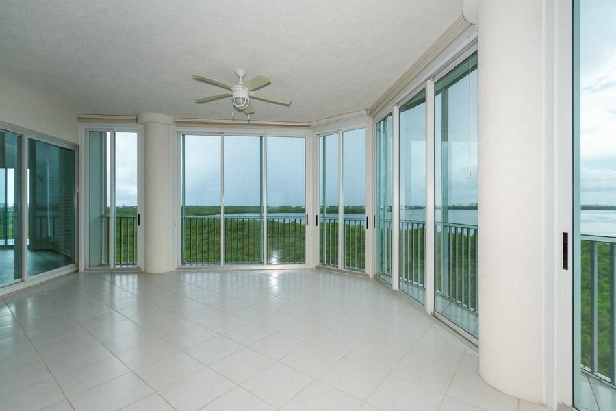 Real Estate Photography - 4811 ISLAND POND CT #704, Bonita Springs, FL, 34134 - Lanai