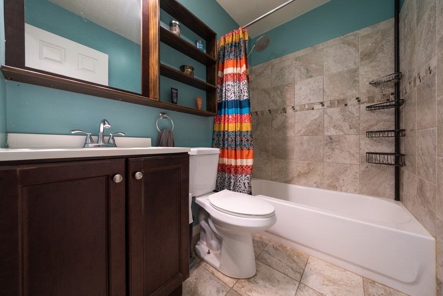 Real Estate Photography - 963 N Highland Ave, Aurora, IL, 60506 - 2nd Bathroom