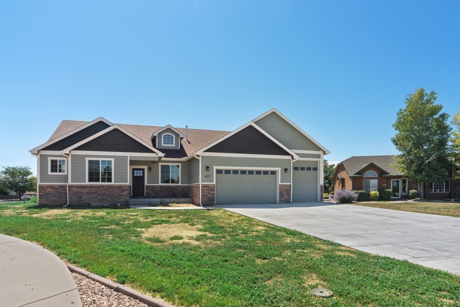Real Estate Photography - 401 Cascade Ct, Johnstown, CO, 80534 - Front View
