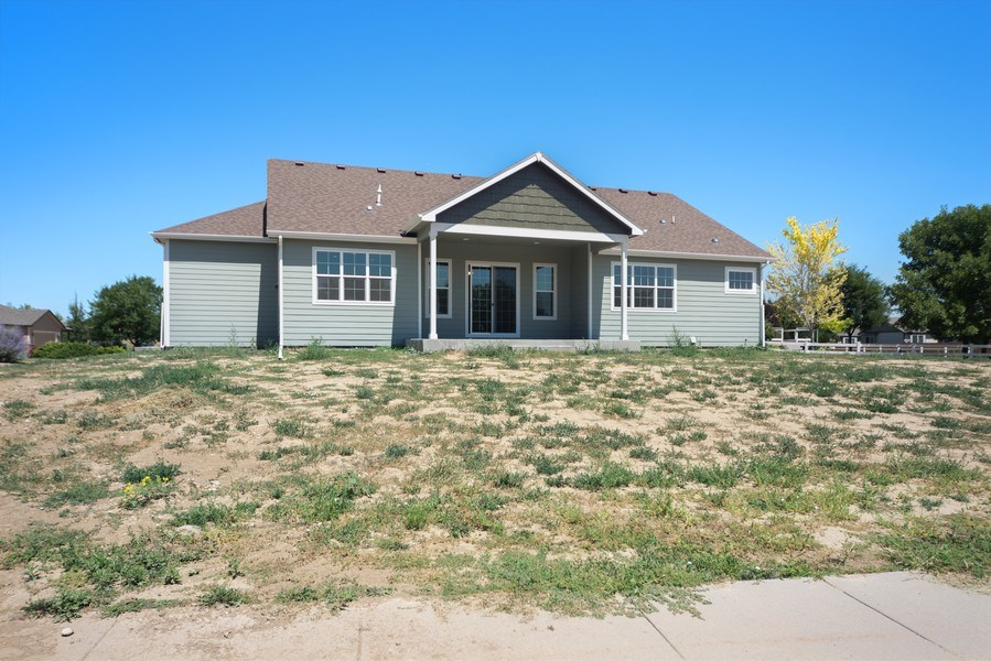 Real Estate Photography - 401 Cascade Ct, Johnstown, CO, 80534 - Rear View