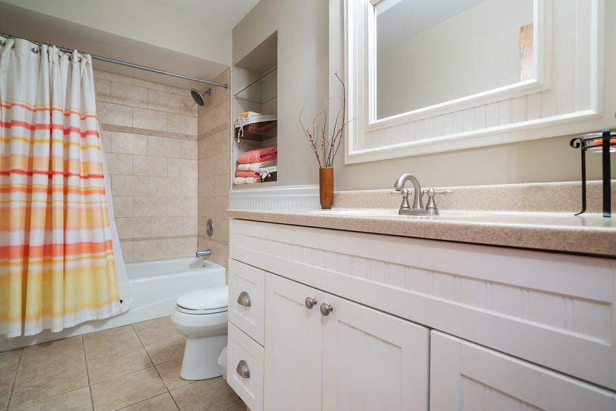 Real Estate Photography - 7819 Chestnut Ave, Woodridge, IL, 60517 - 2nd Bathroom