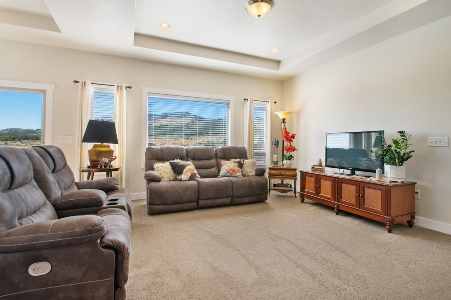 Real Estate Photography - 12067 N Burgh Way, Highland, UT, 84003 - Living Room