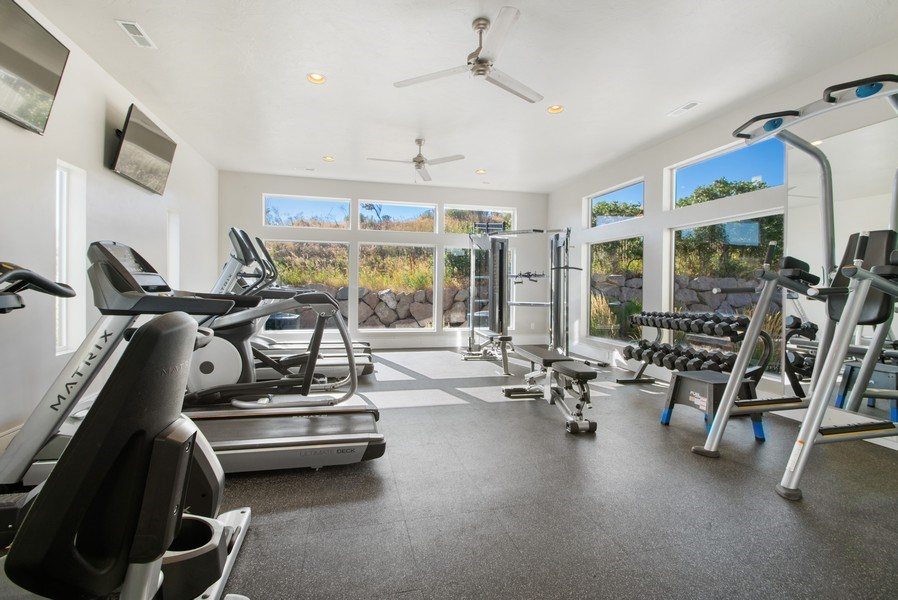 Real Estate Photography - 12067 N Burgh Way, Highland, UT, 84003 - Exercise Room
