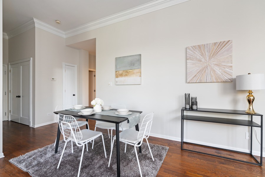 Real Estate Photography - 2512 N. Bosworth, #203, Chicago, IL, 60614 - Dining Room