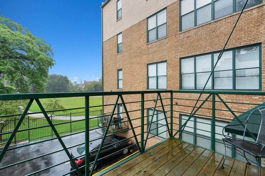 Real Estate Photography - 2512 N. Bosworth, #203, Chicago, IL, 60614 - Balcony