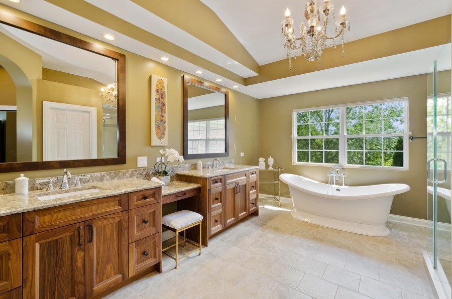 Real Estate Photography - 1588 Independance Ave, Glenview, IL, 60026 - Master Bathroom