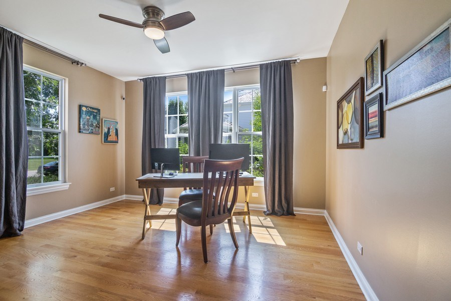 Real Estate Photography - 1588 Independance Ave, Glenview, IL, 60026 - Second Office / Sunroom