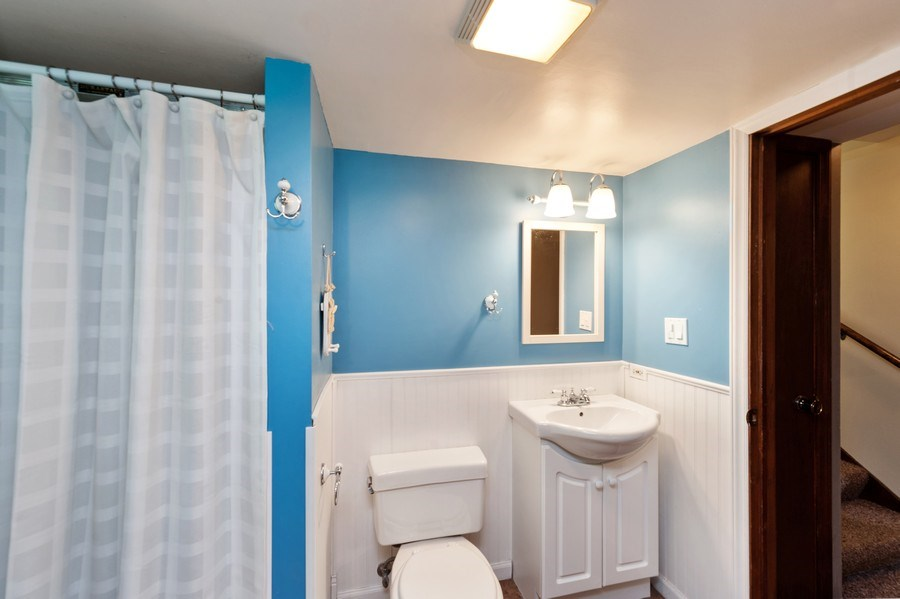 Real Estate Photography - 543 Norman Dr, Cary, IL, 60013 - Lower level bathroom