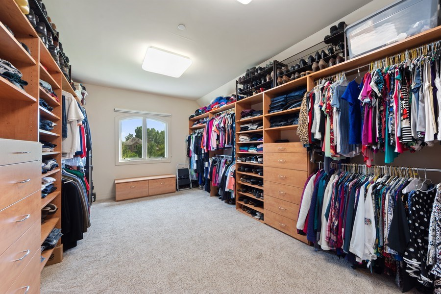 Real Estate Photography - 4576 Pamela Ct., Long Grove, IL, 60047 - Master Bedroom Closet