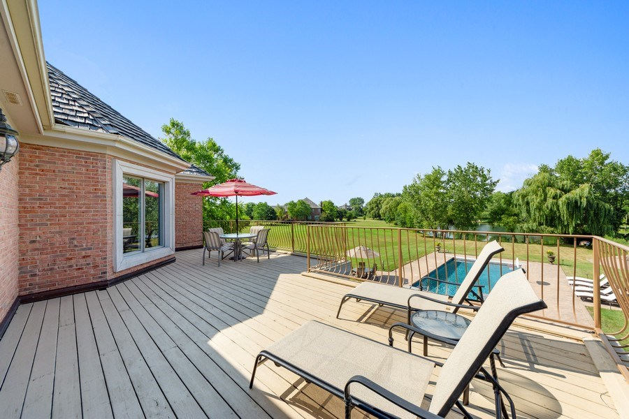 Real Estate Photography - 4576 Pamela Ct., Long Grove, IL, 60047 - Deck