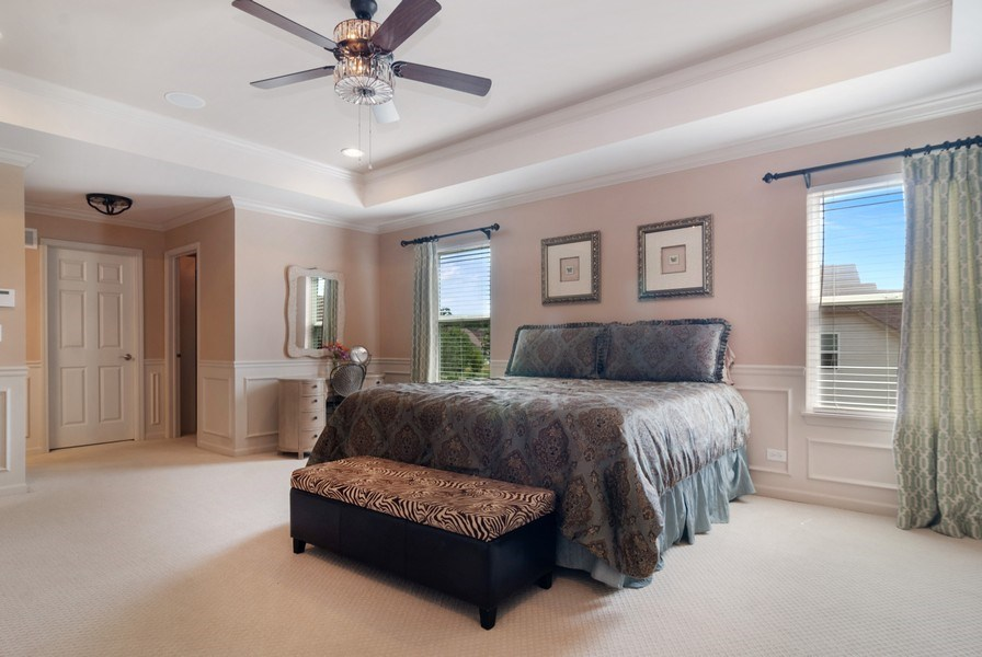 Real Estate Photography - 1225 Verona Ridge Drive, Aurora, IL, 60506 - Master Bedroom