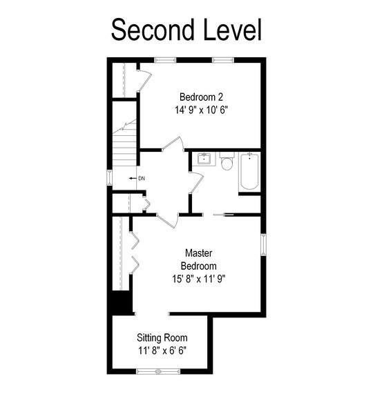 Real Estate Photography - 1226 Elmwood Ave, Berwyn, IL, 60402 - Floor Plan