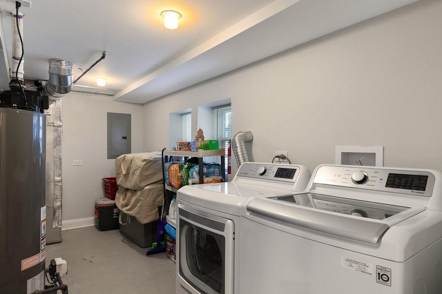 Real Estate Photography - 1226 Elmwood Ave, Berwyn, IL, 60402 - Laundry Room