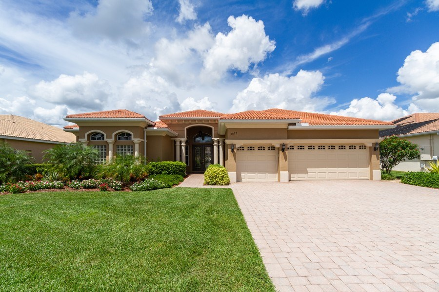 Real Estate Photography - 5075 Castlerock Way, Naples, FL, 34112 - Front View