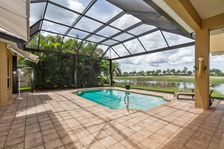 Real Estate Photography - 5075 Castlerock Way, Naples, FL, 34112 - Lanai
