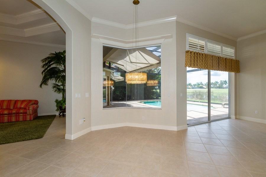 Real Estate Photography - 5075 Castlerock Way, Naples, FL, 34112 - Breakfast Nook