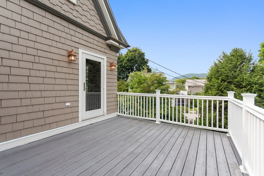 Real Estate Photography - 246 Main St, Cold Spring, NY, 10516 - Balcony off master bed room