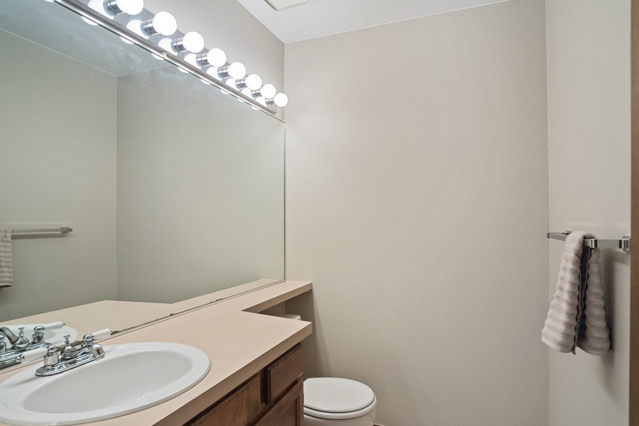 Real Estate Photography - 9989 Grove Way, Unit B, Westminster, CO, 80031 - 3rd Bathroom