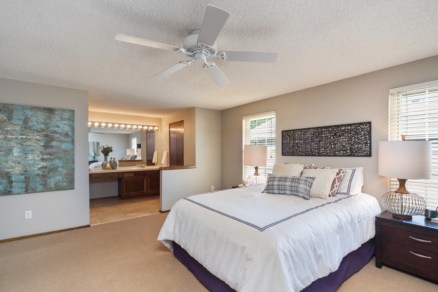 Real Estate Photography - 9989 Grove Way, Unit B, Westminster, CO, 80031 - Master Bedroom