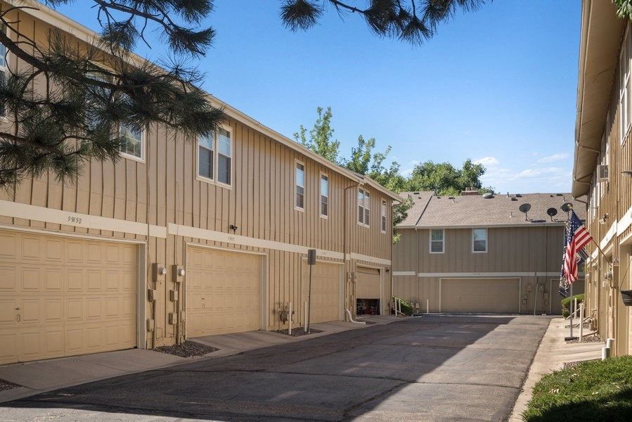 Real Estate Photography - 9989 Grove Way, Unit B, Westminster, CO, 80031 - Garage