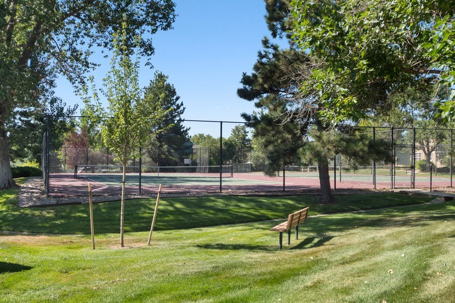 Real Estate Photography - 9989 Grove Way, Unit B, Westminster, CO, 80031 - Tennis Court