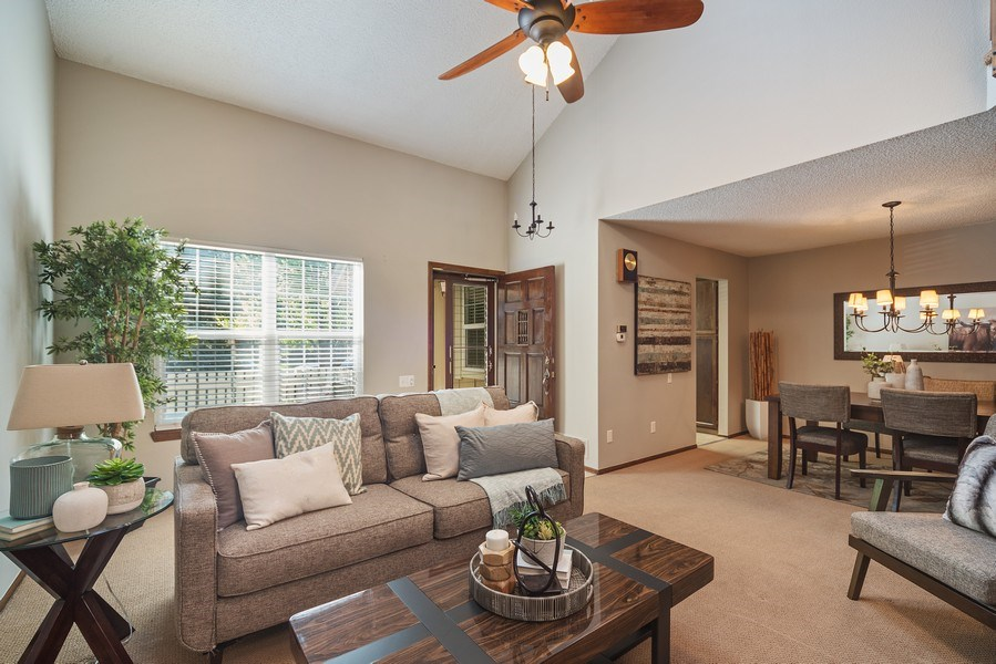Real Estate Photography - 9989 Grove Way, Unit B, Westminster, CO, 80031 - Living Room / Dining Room