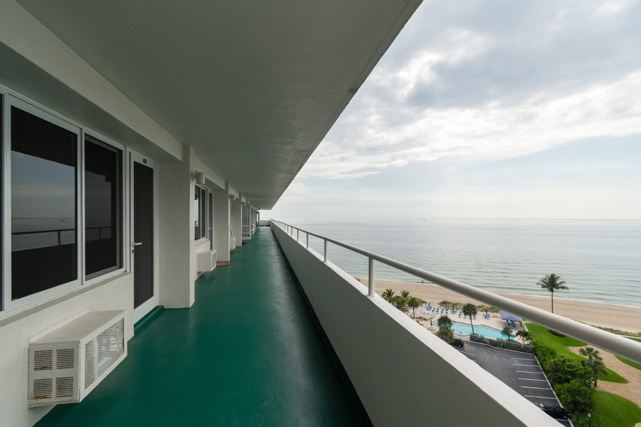 Real Estate Photography - 4050 N Ocean, Unit 1103, Lauderdale by the Sea, FL, 33308 - Balcony